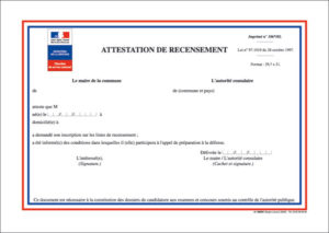 Illustration Attestation de recensement