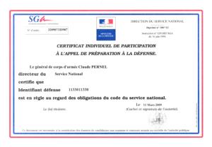 Illustration Certificat JDC