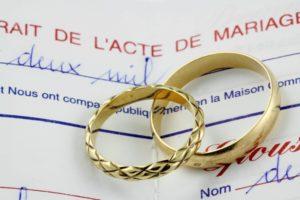 Illustration Acte de mariage
