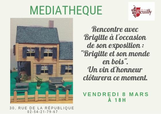 Invitation exposition Brigitte