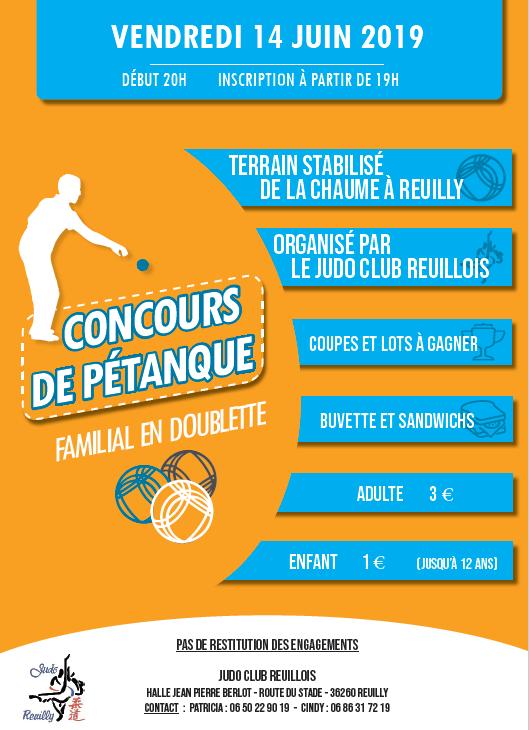 concours pétanque judo club reuilly