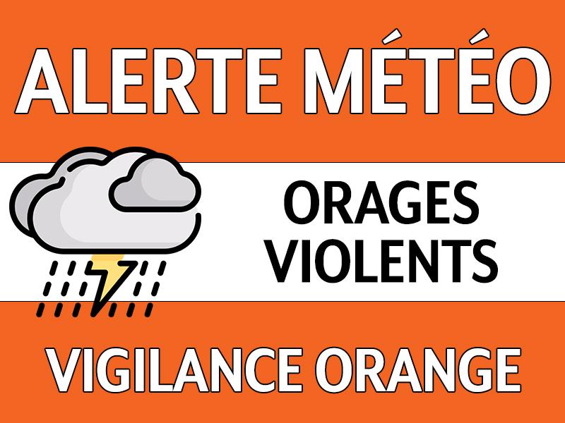 Vigilance Orange le 14/10 entre 15h et 20h : Risque d'orages violents
