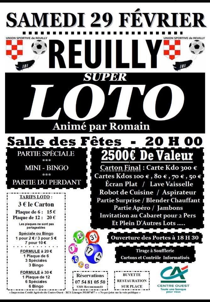 reuilly loto union sportive de reuilly