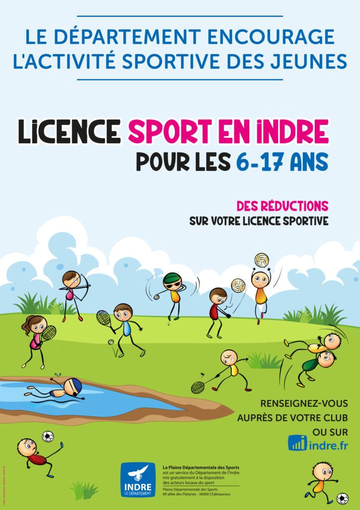 Licence Sport en Indre pour les 6-17 ans