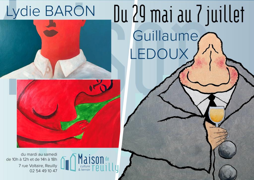 Expositions de Lydie BARON et de Guillaume LEDOUX