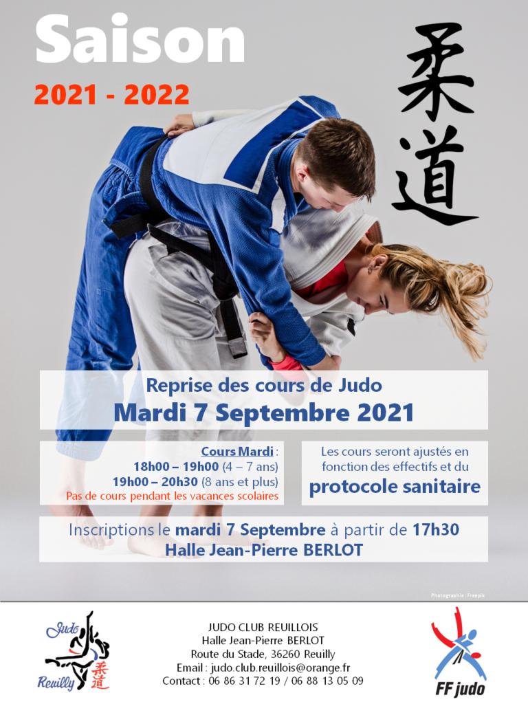 Inscriptions et reprise des cours du Judo-Club Reuillois
